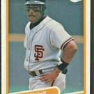 San Francisco Giants Kevin Mitchell 1990 Fleer Box Bottom Card # C-21