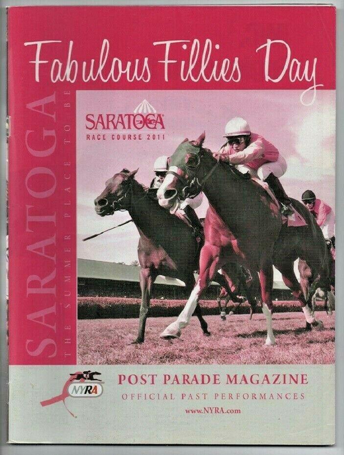 Saratoga Race Course 2011 Program Post Parade Magazine w/ Monmouth Park
