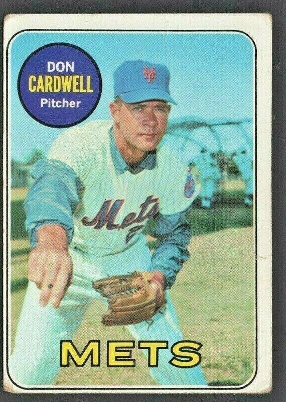 New York Mets Don Cardwell 1969 Topps Baseball Card # 193