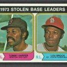 Stolen Base Leaders St Louis Cardinals Lou Brock Red Sox 1974 Topps 204 em