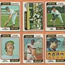 1974 Topps Boston Red Sox Team Lot Team Set 17 Carlton Fisk Luis Aparicio Bill Lee