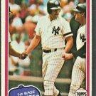New York Yankees Jim Spencer 1981 Topps Baseball Card #435 ex mt