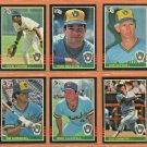1985 Donruss Milwaukee Brewers Team Lot Team Set 24 Paul Molitor Cecil Cooper Don Sutton