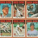 1986 Topps Boston Red Sox Team Lot 17 w/ Traded Tom Seaver Jim Rice Don Baylor