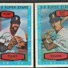 Boston Red Sox Luis Tiant #49 Dwight Evans #38 1975 Kelloggs Baseball Card
