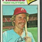 Philadelphia Phillies Tom Hutton 1977 Topps Baseball Card # 264 nr mt