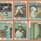 1974 Topps Montreal Expos Team Lot Team Set Ken Singleton Mike Marshall Steve Rogers RC Ron Fairly