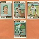1974 Topps Boston Red Sox Team Lot Team Set 8 Cecil Cooper Juab Beniquez John Curtis