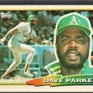 Oakland Athletics Dave Parker 1988 Topps Big Baseball Card # 242 nr mt