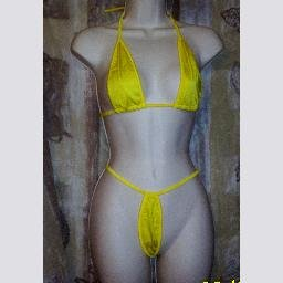New Yellow Micro Mini Thong by SpicySpot One Size