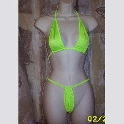 New Green Micro Mini Thong by Spicy Spot One Size