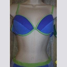 NWT Body ID Purple w Green Trim Underwire Bikini Top 11