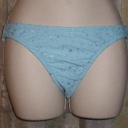 New Daffy Light Blue Mid Rise Bikini Bottom Small
