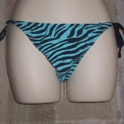 NWT Old Navy Blue Swirl Side Tie Bikini Swim Bottoms S
