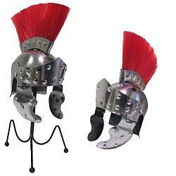 Mini Crested Roman Officer's Helmet Desktop Display
