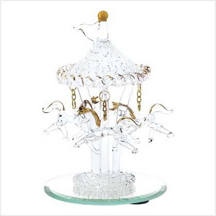 Spun-Glass Horse Carousel