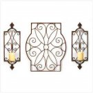 Scrollwork Wall Sconce Trio