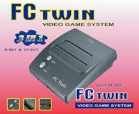 FC Twin NES/SNES Console - Dark Gray (New)