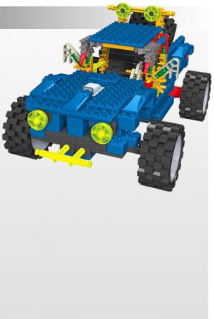 K'NEX : Knex Truck Series - Blue Pick-Up Truck - BRAND NEW