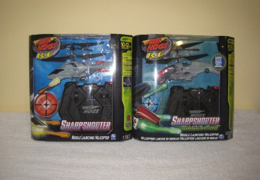 New Air Hogs R/C Sharp Shooter Bundle - 2 Heli Black & Red