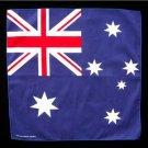 Australia Australian flag bandana wall hanging 20 X 20