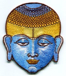 Buddha buddhist yoga trance embroidered applique iron-on patch T-36
