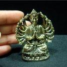 "Guan Yin Guanyin Kuan Yim buddhist buddhism brass amulet new 2.5"" X 3"""