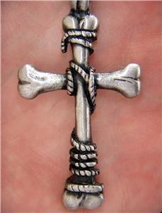 Wholesale lot 12 bone cross goth occult horror new pewter pendants