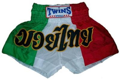 Twins Muay Thai boxing shorts Italian flag new Medium