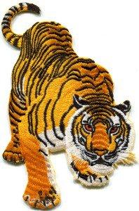 Tiger cat puma jaguar lion animal wildlife Large applique iron-on patch S-327