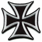 German Iron Cross military medal WW2 valor war biker iron-on applique patch S-85