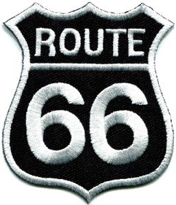 Route 66 retro muscle cars 60s americana USA applique iron-on patch S-274