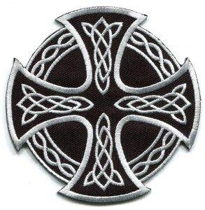 Celtic Cross Irish goth tattoo druids wicca pagan applique iron-on patch new S-5
