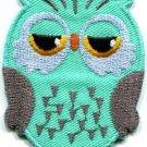 Owl bird of prey hoot animal wildlife applique iron-on patch S-329