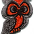 Owl bird of prey hoot animal wildlife applique iron-on patch S-290