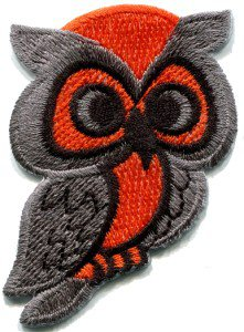 Owl bird of prey hoot animal wildlife applique iron-on patch S-290