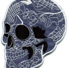 Skull tattoo horror biker goth emo punk rock metal applique iron-on patch S-254