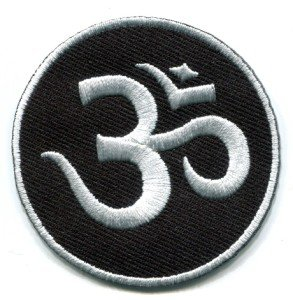 Aum om infinity hindu hinduism yoga indian trance applique iron-on patch S-1