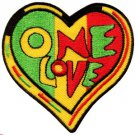 One Love rasta Judah flag reggae retro weed pot applique iron-on patch S-305