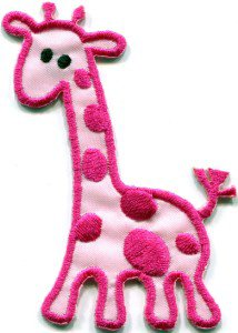 Giraffe baby animal wildlife kids applique iron-on patch S-312