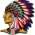 Native American Indian chief ethnic retro biker applique iron-on patch new S-250