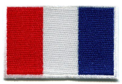 Flag of France French applique iron-on patch Medium S-98