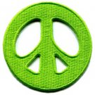 Peace sign hippie retro boho love weed embroidered applique iron-on patch S-15