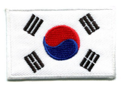 Flag of South Korea Korean applique iron-on patch S-105