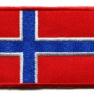 Flag of Norway Norwegian applique iron-on patch Medium S-94