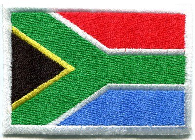 Flag of South Africa applique iron-on patch Small S-108