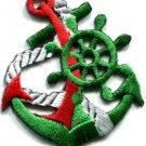 Anchor tattoo navy biker retro ship boat sea sew applique iron-on patch S-401