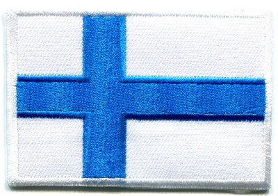 Flag of Finland Finnish applique iron-on patch S-95