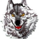Wolf wolves biker retro wildlife embroider applique iron-on patch S-237