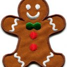 Ginberbread Man cookie fun applique iron-on patch S-239